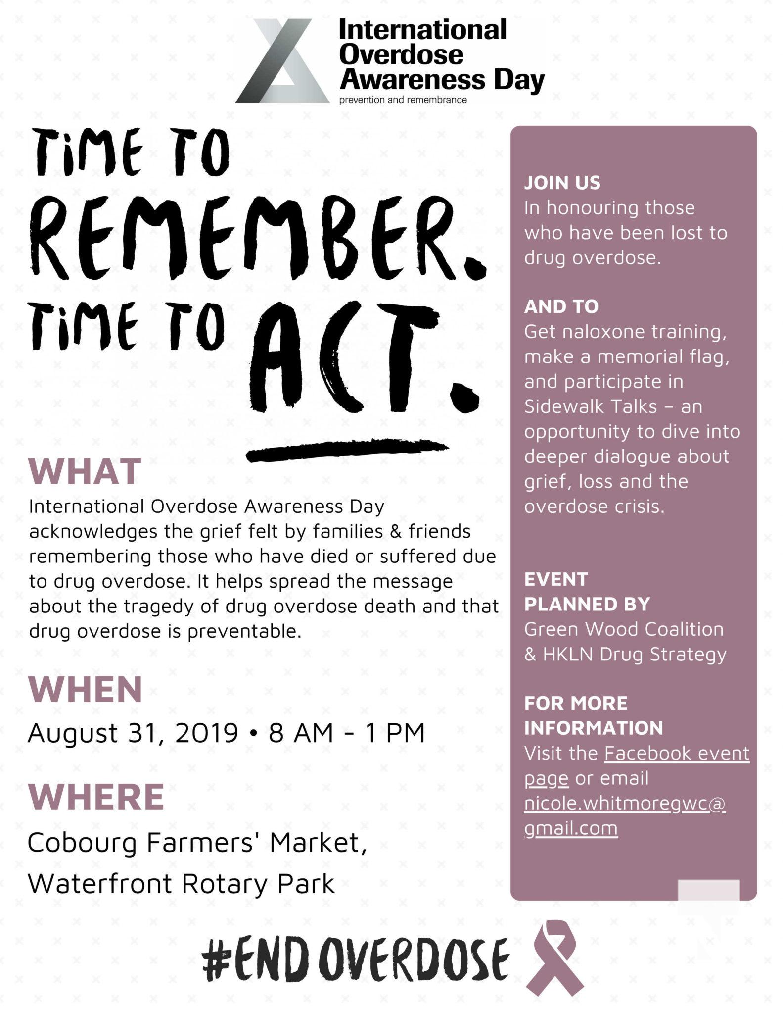 Last Sunday In August Felt More Like >> Green Wood Hosts International Overdose Awareness Day Event Aug 31